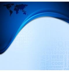 Wavy tech design vector image vector image