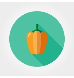 Yellow bell pepper Icon vector image