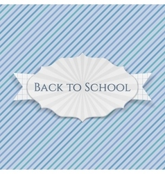Back to school realistic paper creative emblem vector