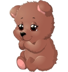 Bear in beautiful pose vector