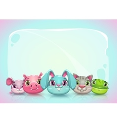 Cute childish horizontal banner template vector