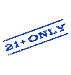 21 plus only watermark stamp vector