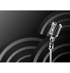 Microphone shining background vector