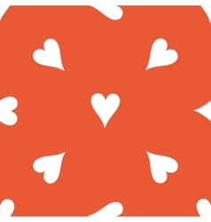 Orange hearts pattern vector