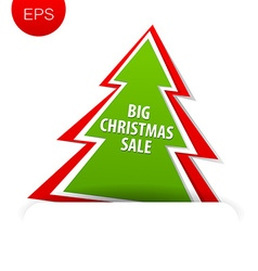 Big christmas sale tree vector