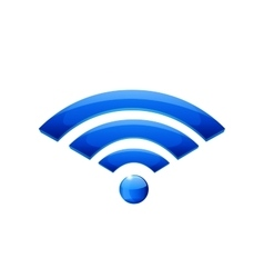 Web wifi icon vector image