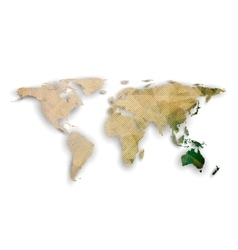 World map with shadow textured design vector
