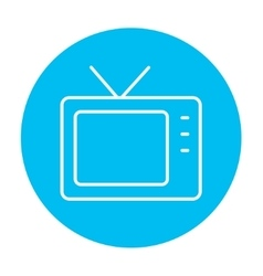 Retro television line icon vector