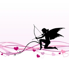 Cupid valentines day banner vector