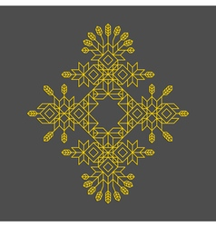Decorative line art frame geometric design vector