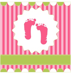 footprint of girl vector image