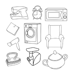Set of pieces of household vector