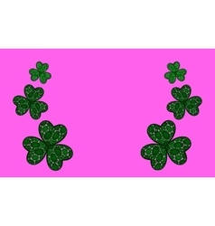 Three leaf clovers vector