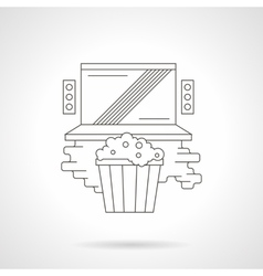 Watching online movie detailed line icon vector