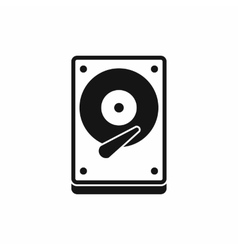 HDD icon icon simple style vector image