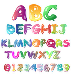 alphabet in the form of balloons vector image vector image