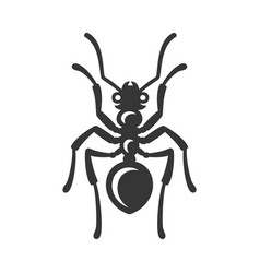 ant icon on white background vector image