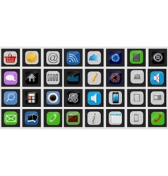 Apps icon set vector image vector image