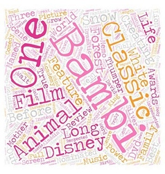 Bambi DVD Review text background wordcloud concept vector image vector image