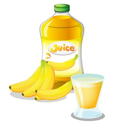 Banana fruit and juice vector image vector image