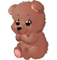 Bear in beautiful pose vector image vector image