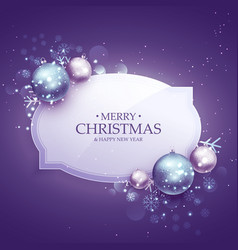 Beautiful merry christmas decoration background vector
