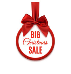 Big christmas sale round banner vector