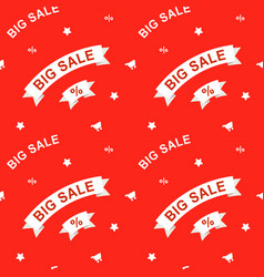 big sale seamless pattern vector image