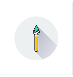brush icon on white background vector image