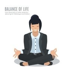 Businesswoman meditate vector image vector image