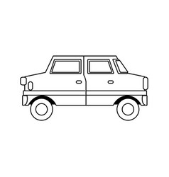 Cartoon car vehicle transport wheel motor vector
