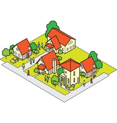 Community house set vector