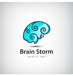 creative mind logo brain vector image
