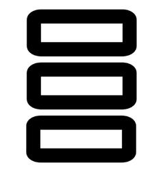 Database stroke icon vector