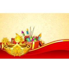 Diwali gift hamper vector
