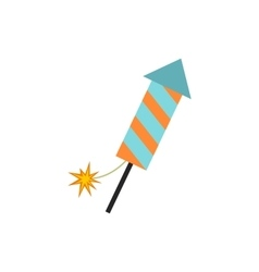 Firecracker christmas flat icon vector