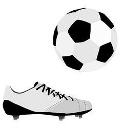 Football ball and shoe vector