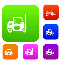 forklift set collection vector image
