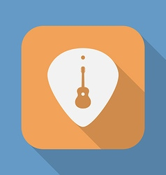 Guitar plectrum icon with the guitar symbol sign vector
