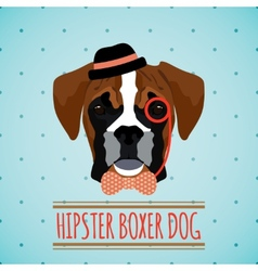 Hipster dog portrait vector image vector image