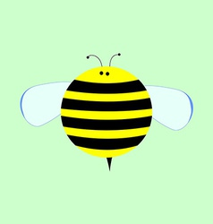 Little cute cartoon bee for kids vector
