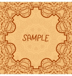 Ornamental frame delicate floral pattern square vector image vector image