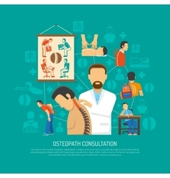 Osteopathy design concept vector