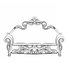 Royal sofa with ornaments vector