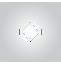 Spinning rotating arrows vector image