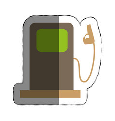 station service isolated icon vector image vector image