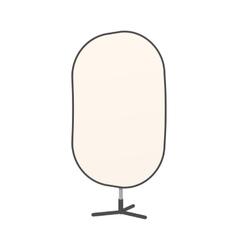Studio reflector icon cartoon style vector