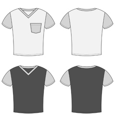 T-shirt design templates front and back sides vector