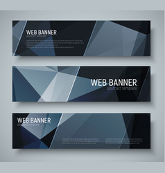 template black banners with transparent diagonal vector image vector image
