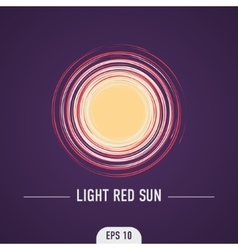 The red light of the sun vector
